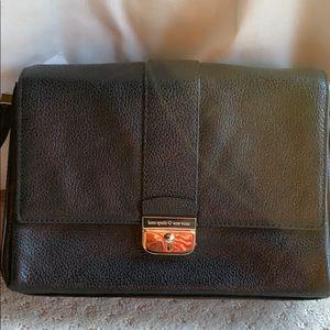 New Kate Spade Black Leather Crossbody Bag